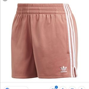 Adidas Originals 3 Stripe Pink Shorts - L